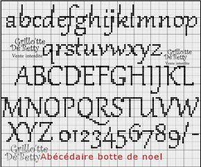 Épinglé par Sophie Thollet sur point de croix | Alphabet point de croix, Point de croix libre et ...
