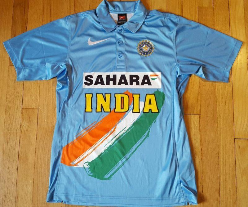 save off 7a18d 38e0b Nike Sahara India Cricket Jersey M Blue Shirt Soccer Polo ...
