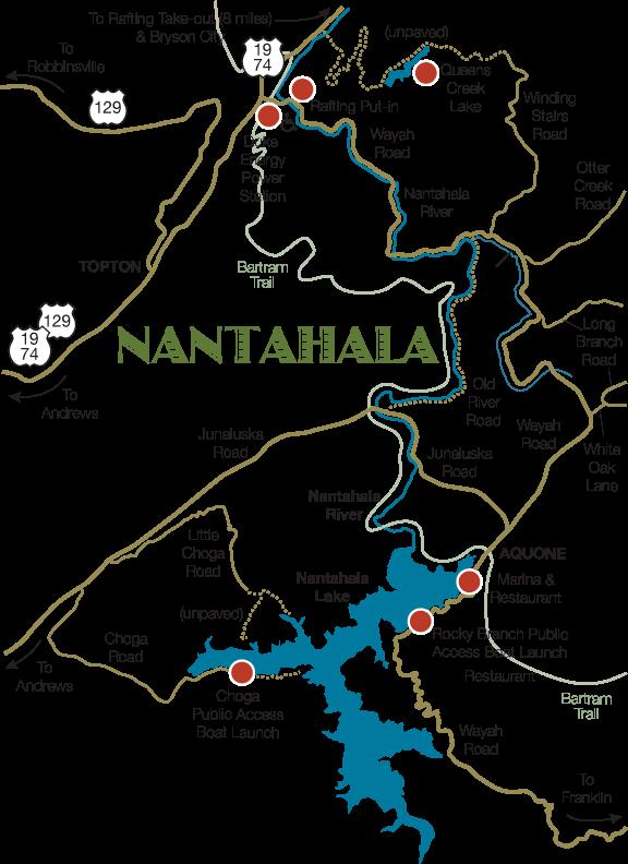 Nantahala River Map Detailed map of the Nantahala Community   North Carolina in 2019