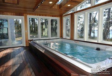 15\' Endless Pool® Swim Spa - traditional - Pool - Portland Maine ...