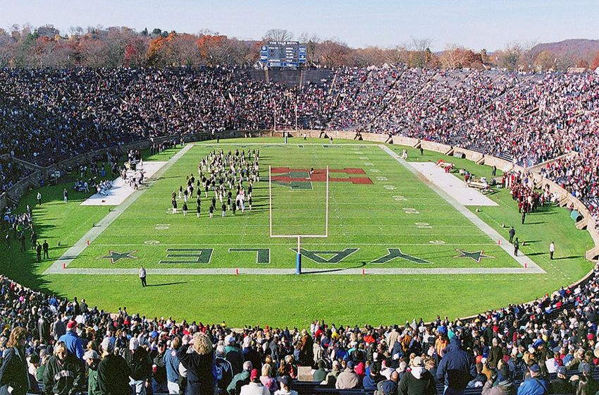The Yale Bowl is a famous football stadium, situated in