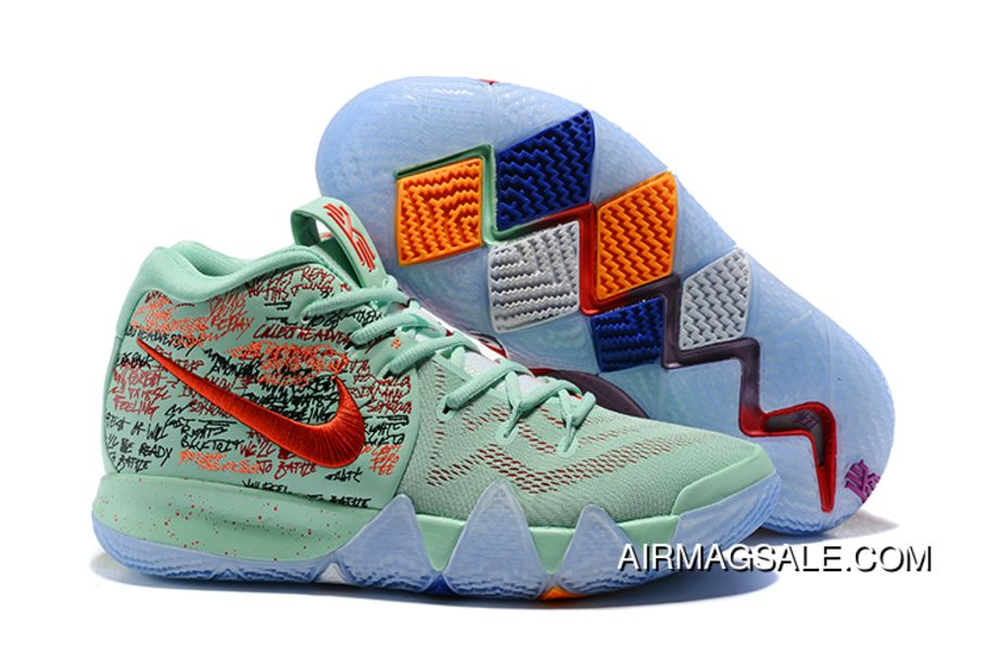kyrie 4 red and green