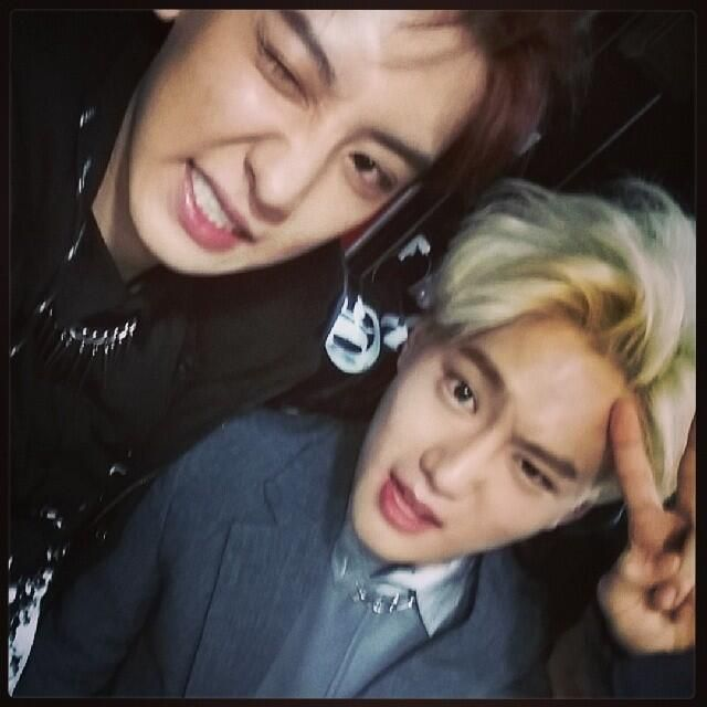 "Twitter / EXO_M_K: 140522 Chanyeol Instagram update : ""Happy Birthday to my lovely leader-hyung """