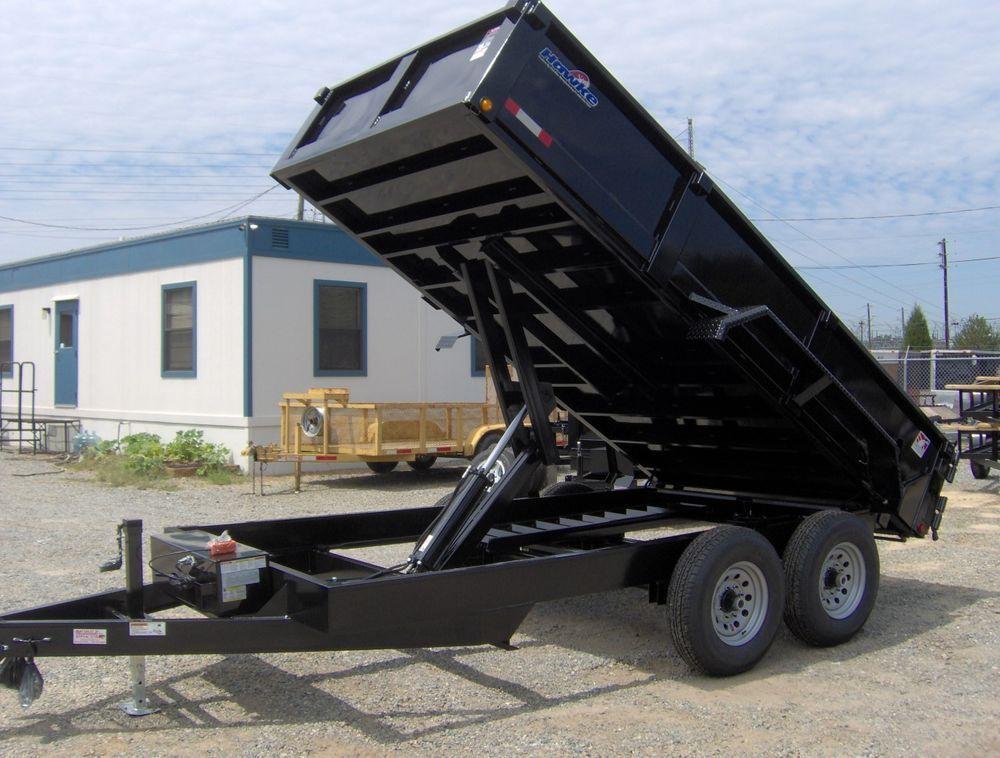 7x14 Heavy Duty Hawke Dump Trailer 6 Ton 12k New Dump Trailers For Sale Dump Trailers Utility Trailer