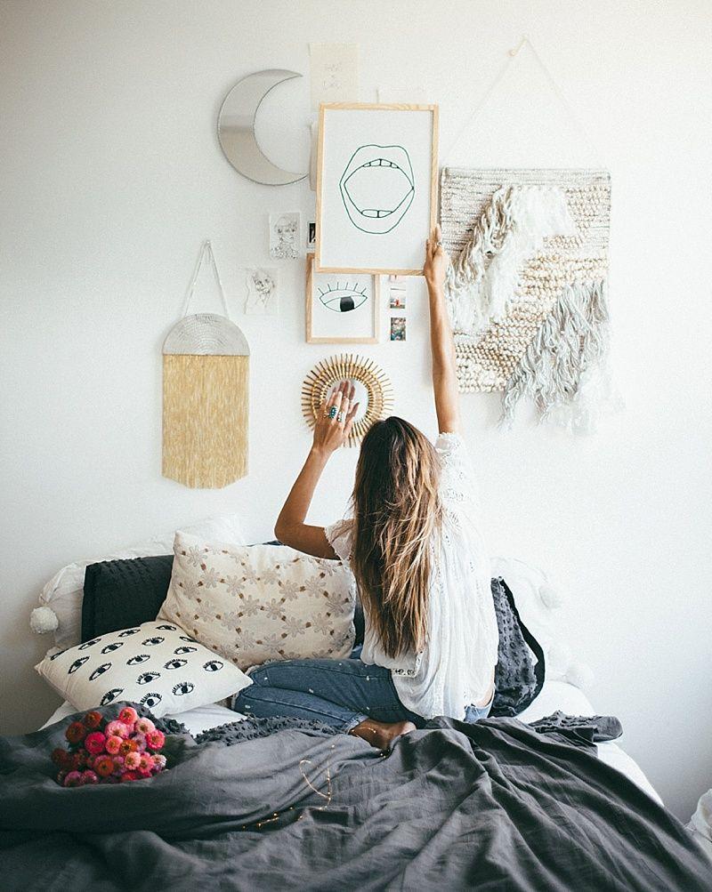 Tessa barton nyc apartment u giveaway wall art room ideas