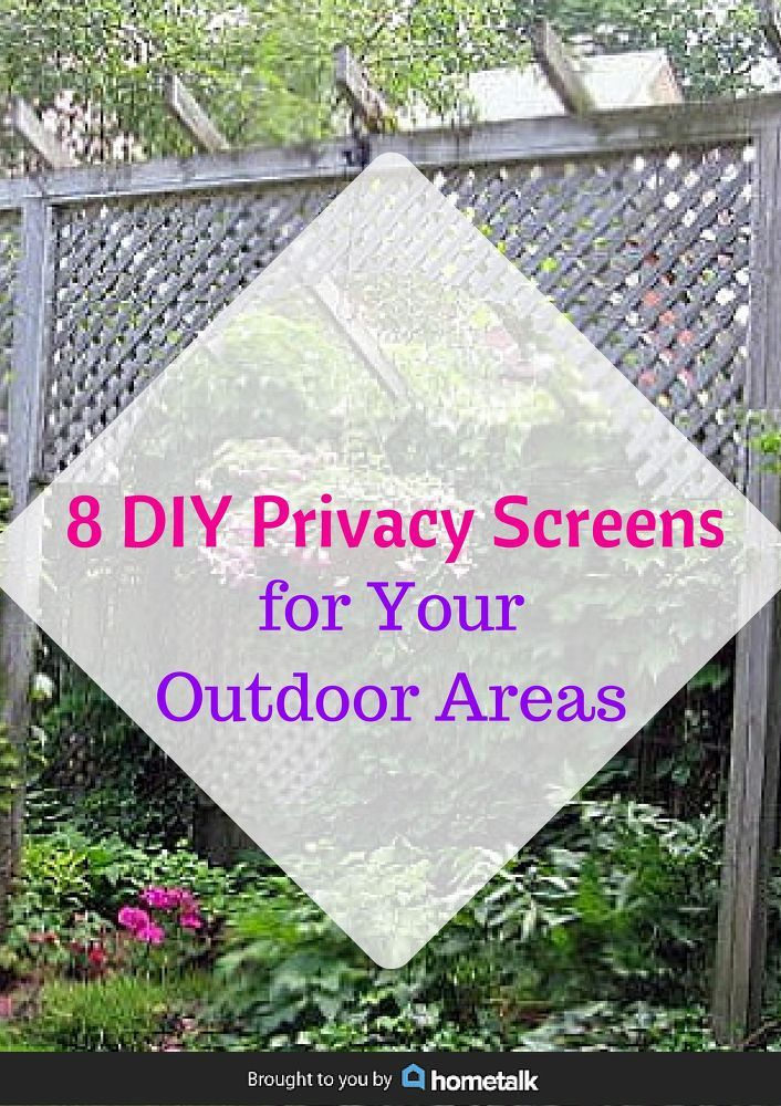 8 diy privacy screens for your outdoor areas gardens for Outdoor privacy screens for backyards