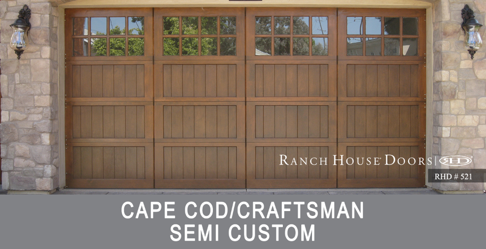 Cape Cod Craftsman Style Garage Door Installation Design Coastal Garage Doors In 2020 Garage Door Styles Cottage Style Doors Craftsman Style Garage Doors
