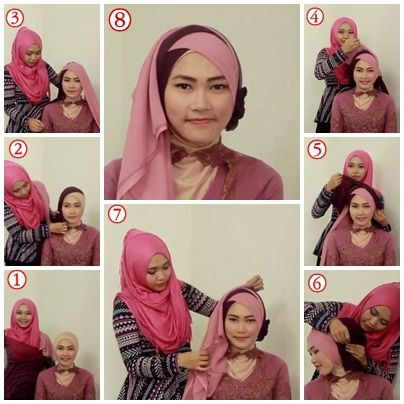 Tutorial Hijab Untuk Kebaya 3 Kursus Hijab Wisuda Dan Model