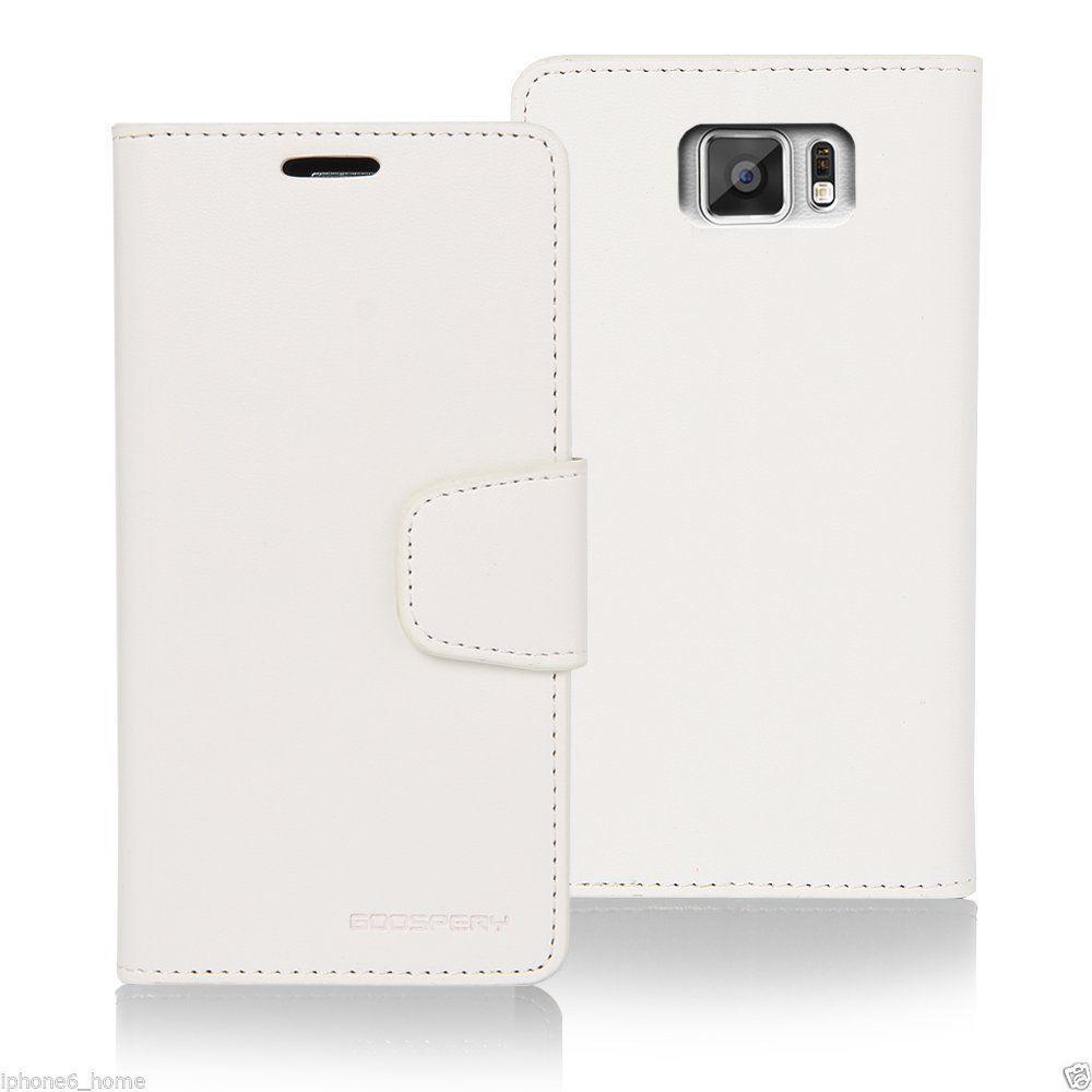 Galaxy S7 Edge Genuine Mercury Goospery White Leather Flip Case Iphone 6 6s Pearl Jelly Black Cover