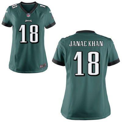 dc54a53b7 Women's Nike Midnight Green Philadelphia Eagles Custom Game Jersey ...