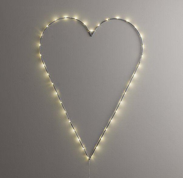Starry Light Wall Décor Heart