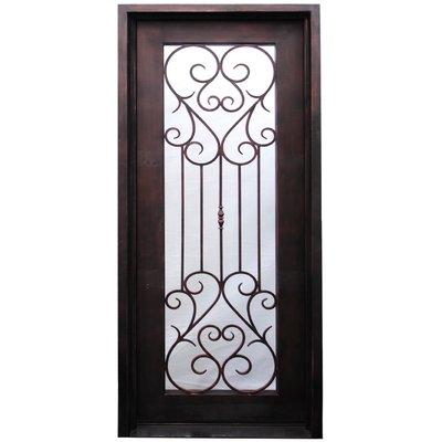 Iron Doors Depot Casimir Premium Flat Top Iron Prehung Front Entry Door Door Size 96 H X 37 5 D With Images Iron Doors Front Entry Doors Wood Exterior Door