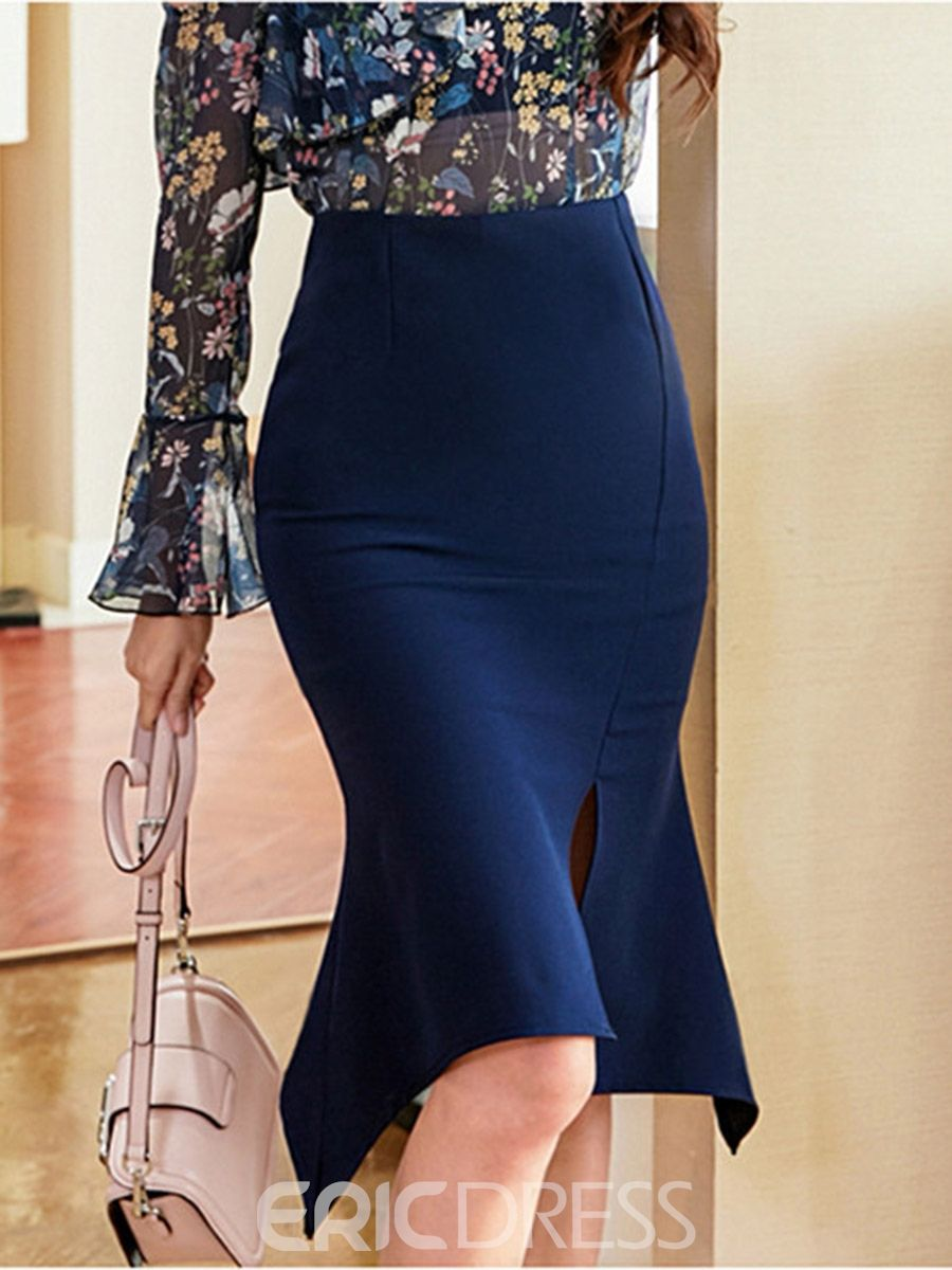 4faf291e008f98 Ericdress Plain Knee-Length Bodycon Women's Skirt | MODA | Skirts ...