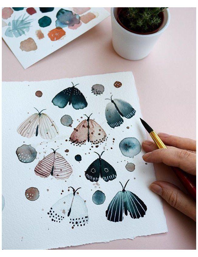 "Inga Buividavice on Instagram: ""Butterfly pattern ???????????? . . . . . #watercolor #ingabuive  #watercolorart #p Butterfly pattern ???????????? . . . . . #watercolor #ingabuive #watercolorart #pattern #watercolorartist #watercolorflorals #inspiringwatercolors…"