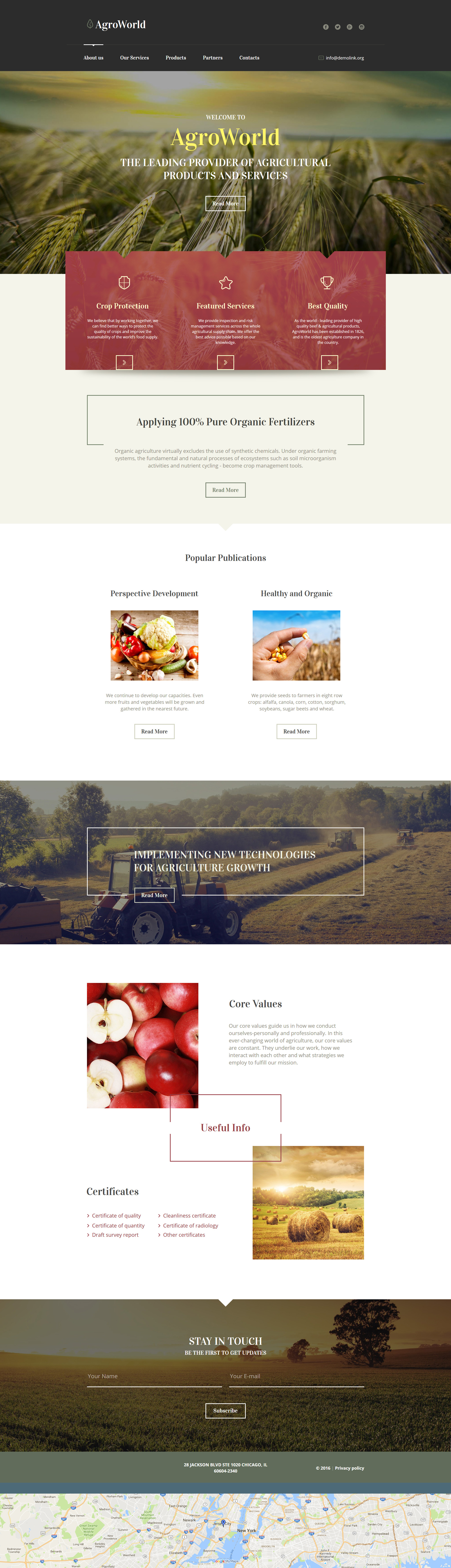 Agriculture Moto CMS HTML Template | Template, Website layout and ...