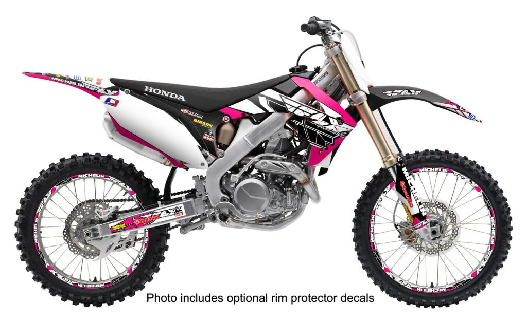 crf150f graphics - Google Search | One Day | Pink dirt bike