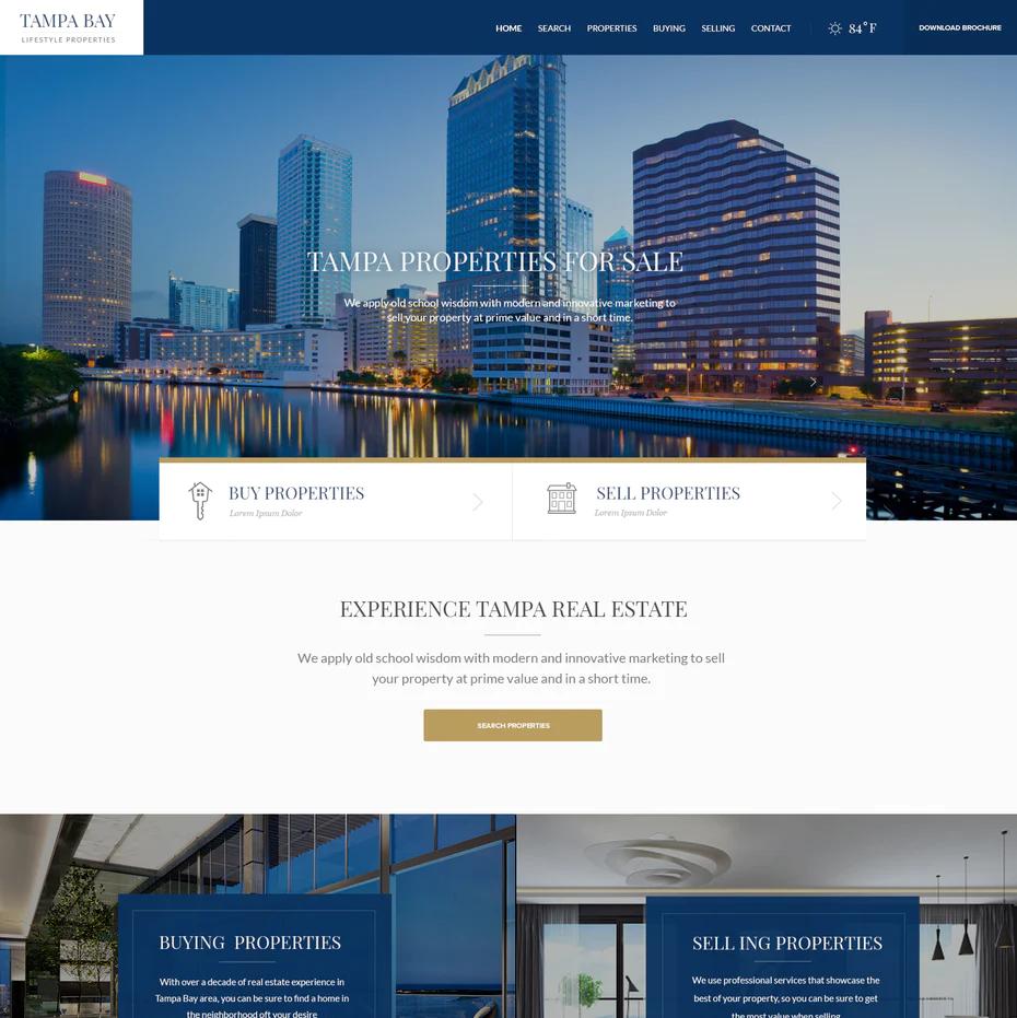 28 Best Real Estate Website Designs That Make You Feel At Home 99designs Real Estate Web Design Real Estate Website Design Real Estate Website