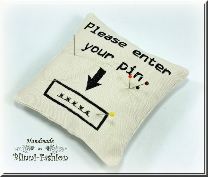 Pincushion Please Enter Your Pin Nadelkissen Kissen Etsy