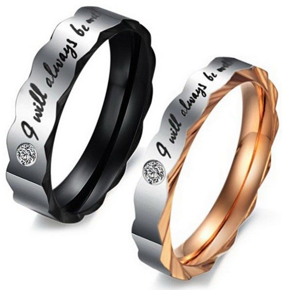 Edelstahl Ring Partnerringe Hochzeit Engagement Band Damenring Herrenring
