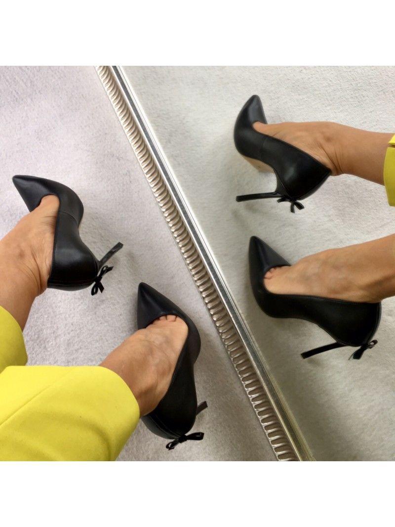 Wyjatkowe Polskie Szpilki Wloska Skora Ozdobny Obcas Mess Czarne Licowe Calzado Sklep Buty Damskie Warszawa Stiletto Heels Heels Stiletto