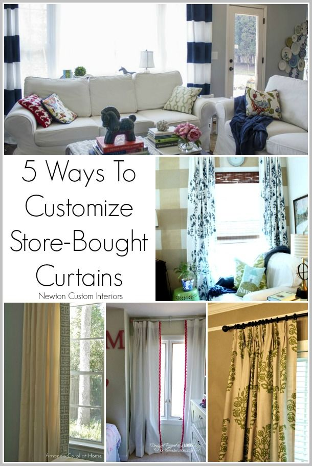 5 Ways To Customize Store Bought Curtains Buy Curtains No Sew