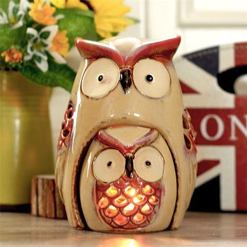Creative Owl Candlesticks Candle Holder Bedroom Studyroom Living Room Home Decor