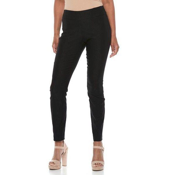 Women's Apt. 9® Pull On Skinny Dress Pants ($48) ❤ liked on