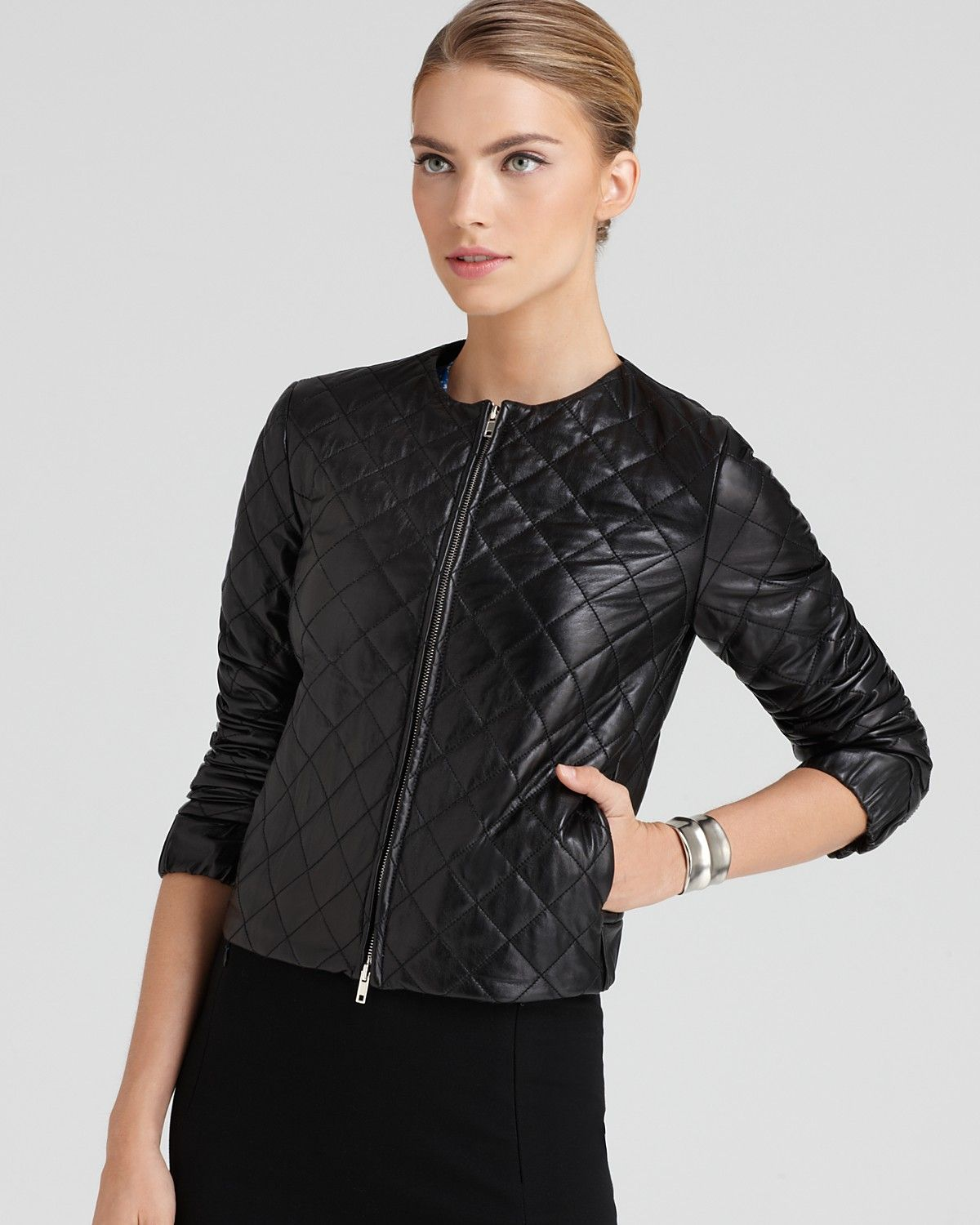 DIANE von FURSTENBERG Jacket - Delilah Leather | Bloomingdale's  Also check out http://evandthecity.com/2013/02/21/birthday-girl-gifts/