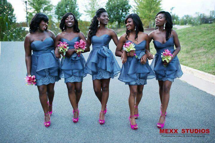Ghana Bridesmaids Short Lace Bridesmaid Dresses Bridesmaid