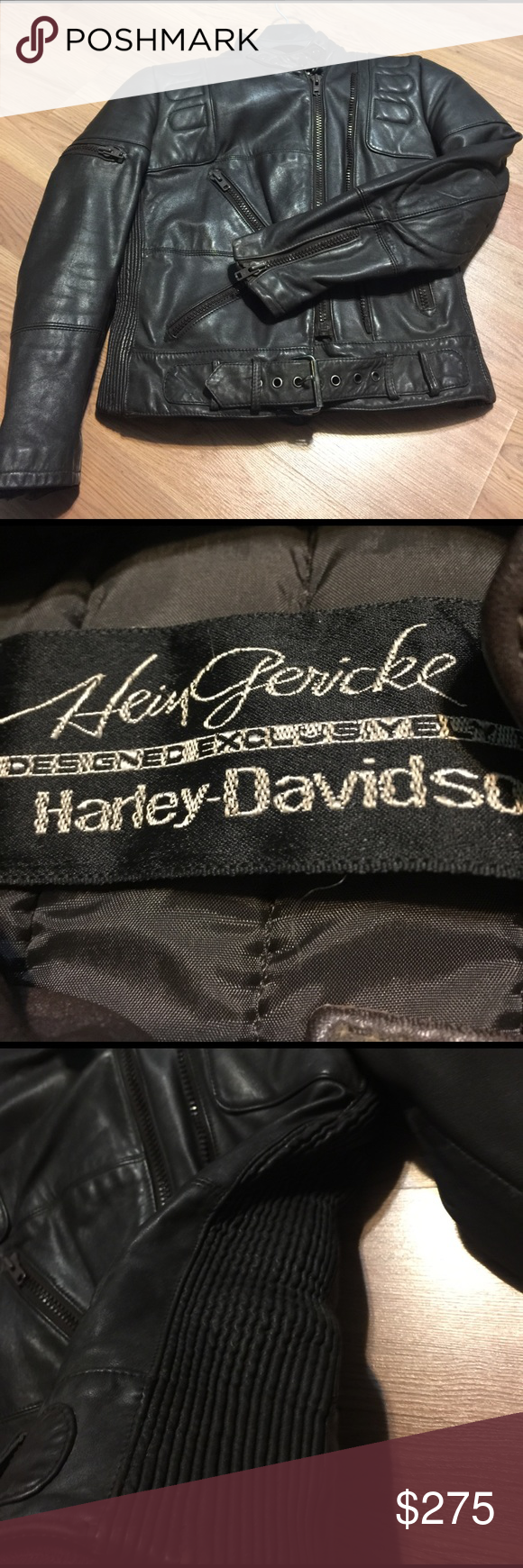 Hein gericke leather jacket/see more photo listing