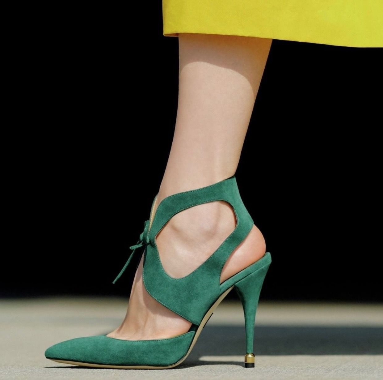 Paul Andrew Green Stiletto 2019 #shoes #shoesaddict #sandals
