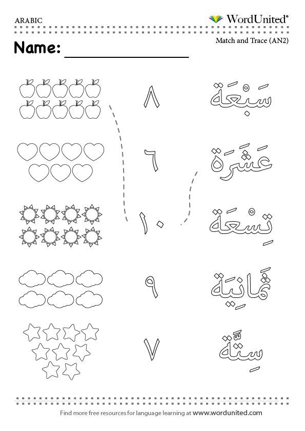 Languages Arabic Mfl Primary Reception Vocabulary Learnarabicworksheets Lembar Kerja Belajar Huruf Arabic numbers tracing worksheets pdf