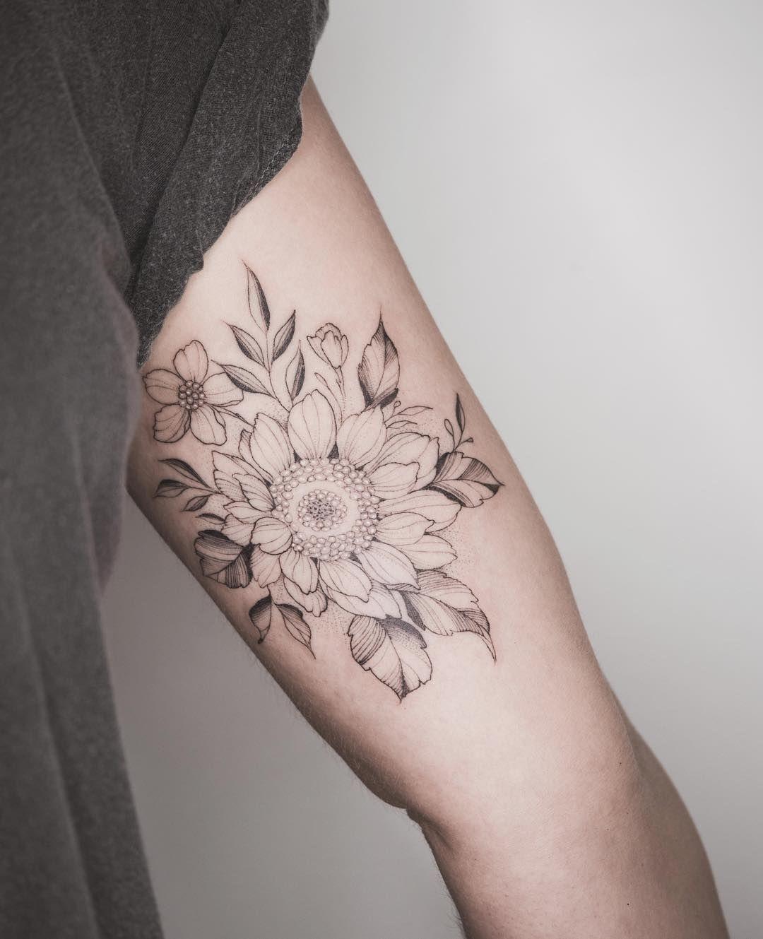 02d41b500 Tritoan Ly sunflower tattoo