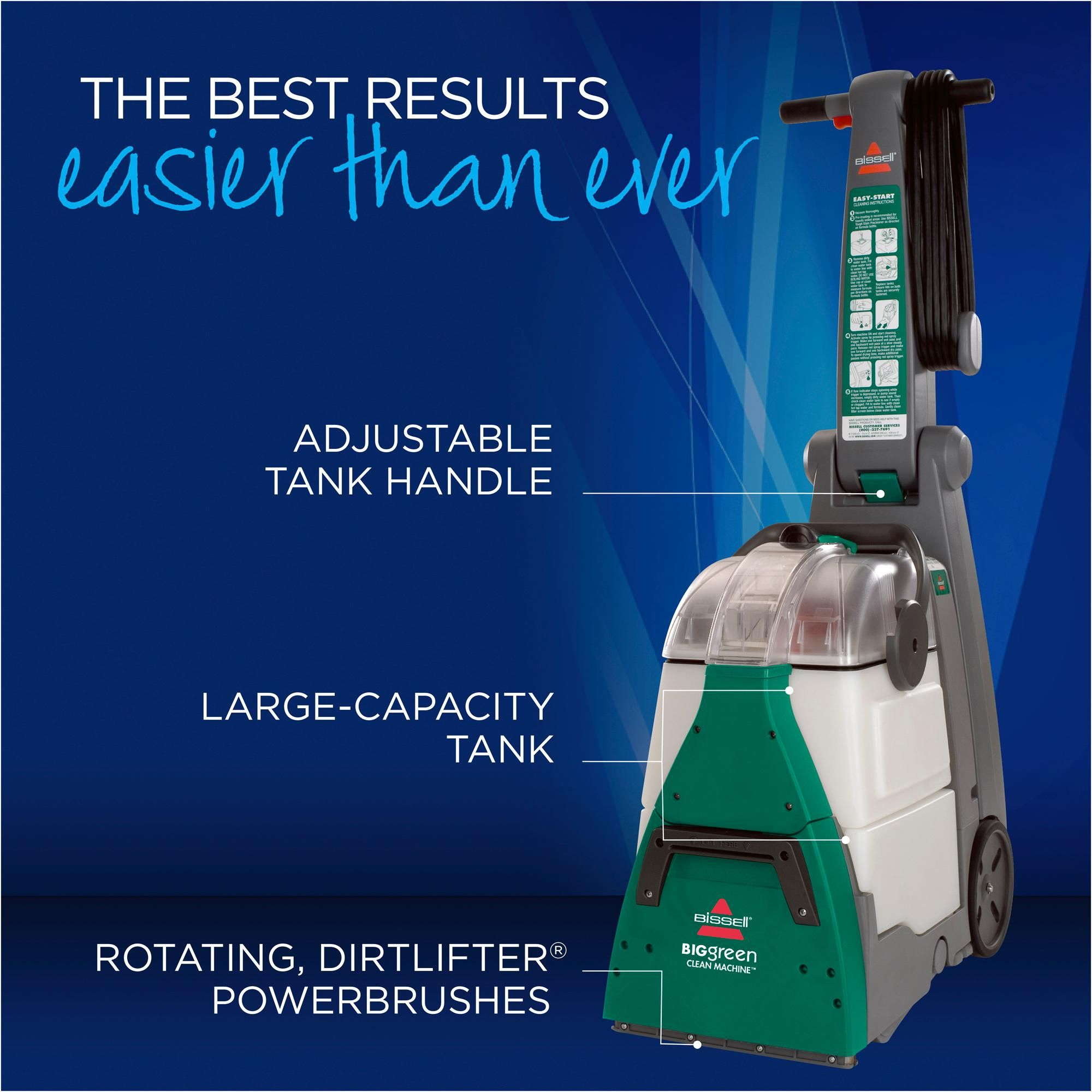 Bissell 86t3 86t3q Big Green Deep Cleaning Professional Grade Carpet Cleaner Machine Bissell Big Green Carpet Cleaners Professional Carpet Cleaning