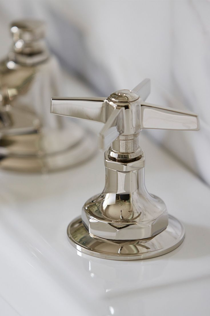 Polished Details Reflect The 1920s Industrial Aesthetic In The For Loft Sink Faucet Faucet Bathroom Faucets Sink Faucets