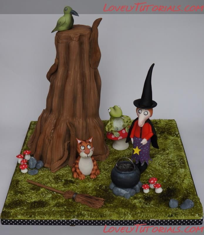 Wedding Broom Ideas: The Making Of The 'Room On The Broom' Cake