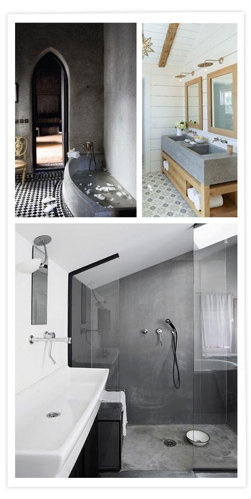 El hormig n un material c lido para la casa ba o for Cera de hormigon para azulejos de bano
