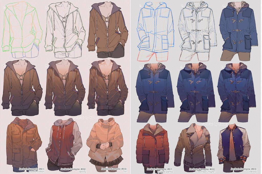 How to draw jacket by kawacy jacket drawing drawings