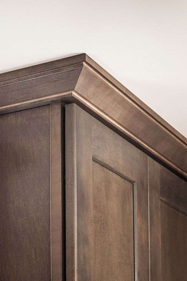 The Straight Clean Lines Of The Shaker Crown Moulding Pair Well