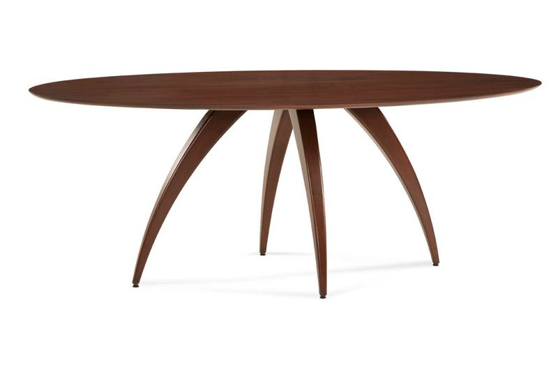 Saloom Furniture Ella Ellipse Dining Table Dining Table Cloth