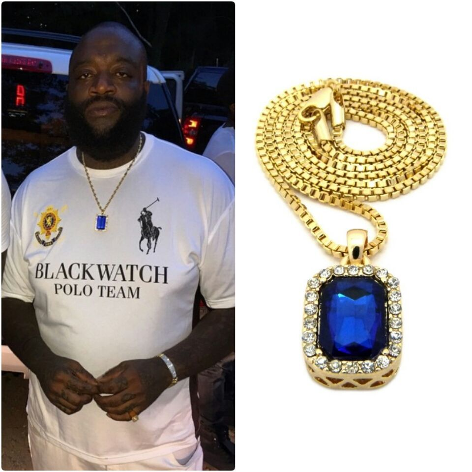 Iced out blue pendant gold chain necklace hiphop rick ross ruby mens iced out blue pendant gold chain necklace hiphop rick ross ruby mens sq box aloadofball Gallery