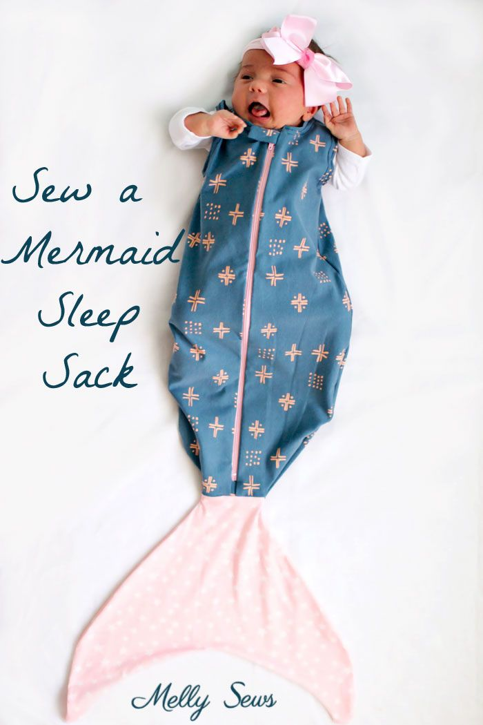 Sew a Mermaid Sleep Sack - a Mermaid blanket for babies! Get the sewing  pattern and tutorial including video on Melly Sews 0aa86c5a6