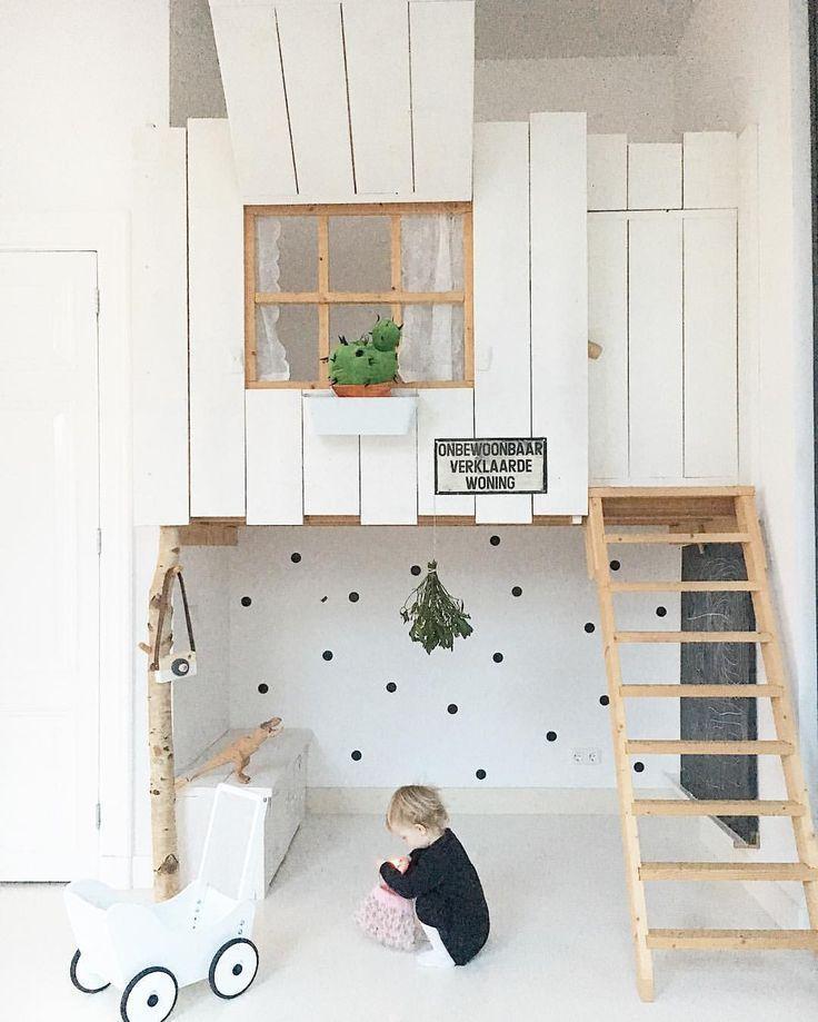 Scandinavian Style Kids Room: Stylish Scandinavian Style Indoor Kids Loft Style