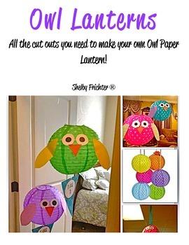 Owl Paper Lanterns Owls