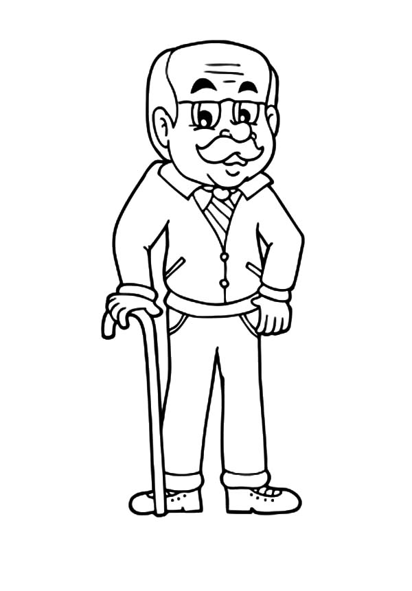 Handsome Grandfather Coloring Pages Color Luna Coloring Pages Black And White Drawing Color