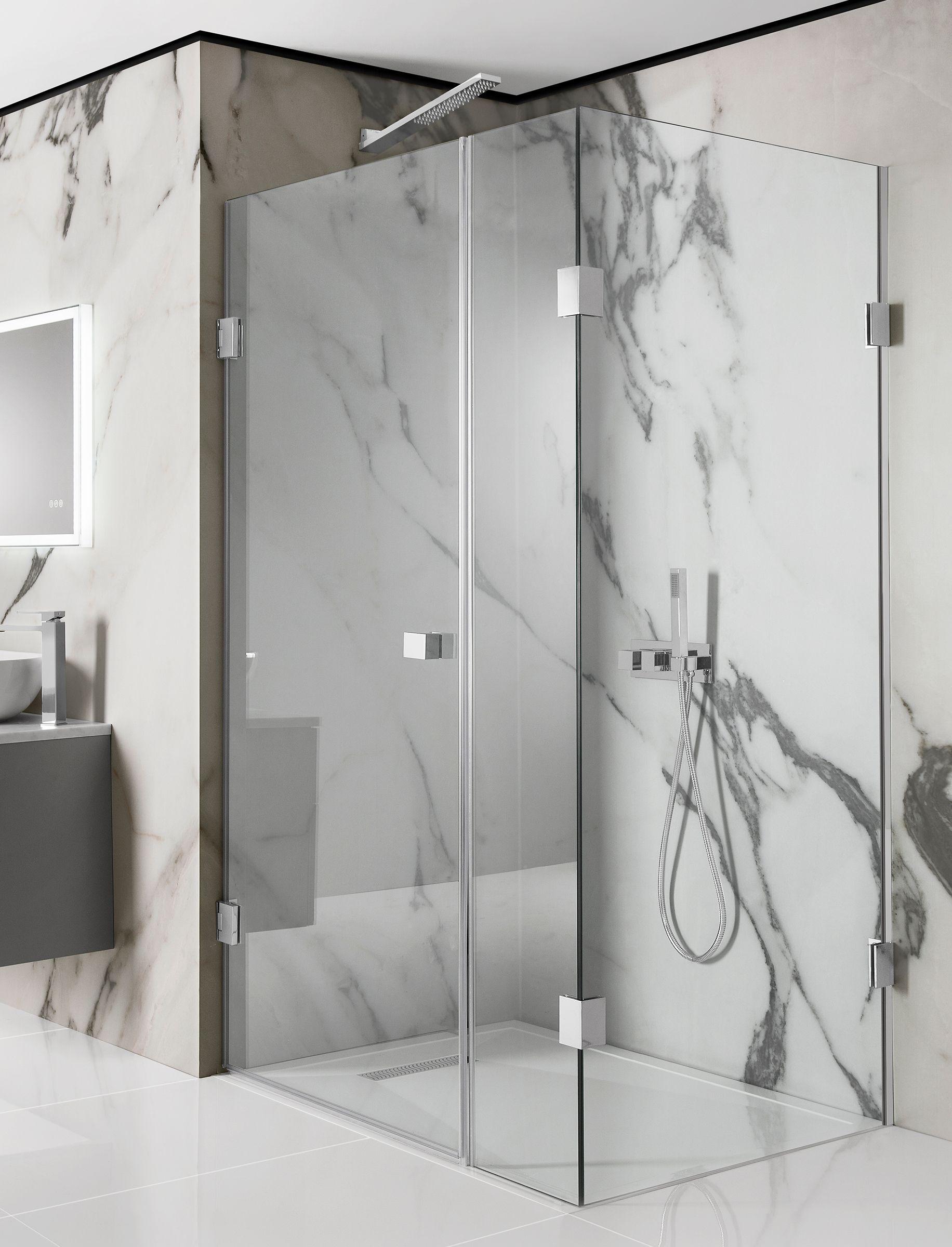 Zion Hinged Shower Door With Inline Panel Shower Doors Square Shower Enclosures Shower Panels