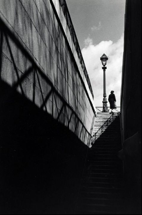 Stairway at the quay paris 1936 herbert list · modern photographyblack white