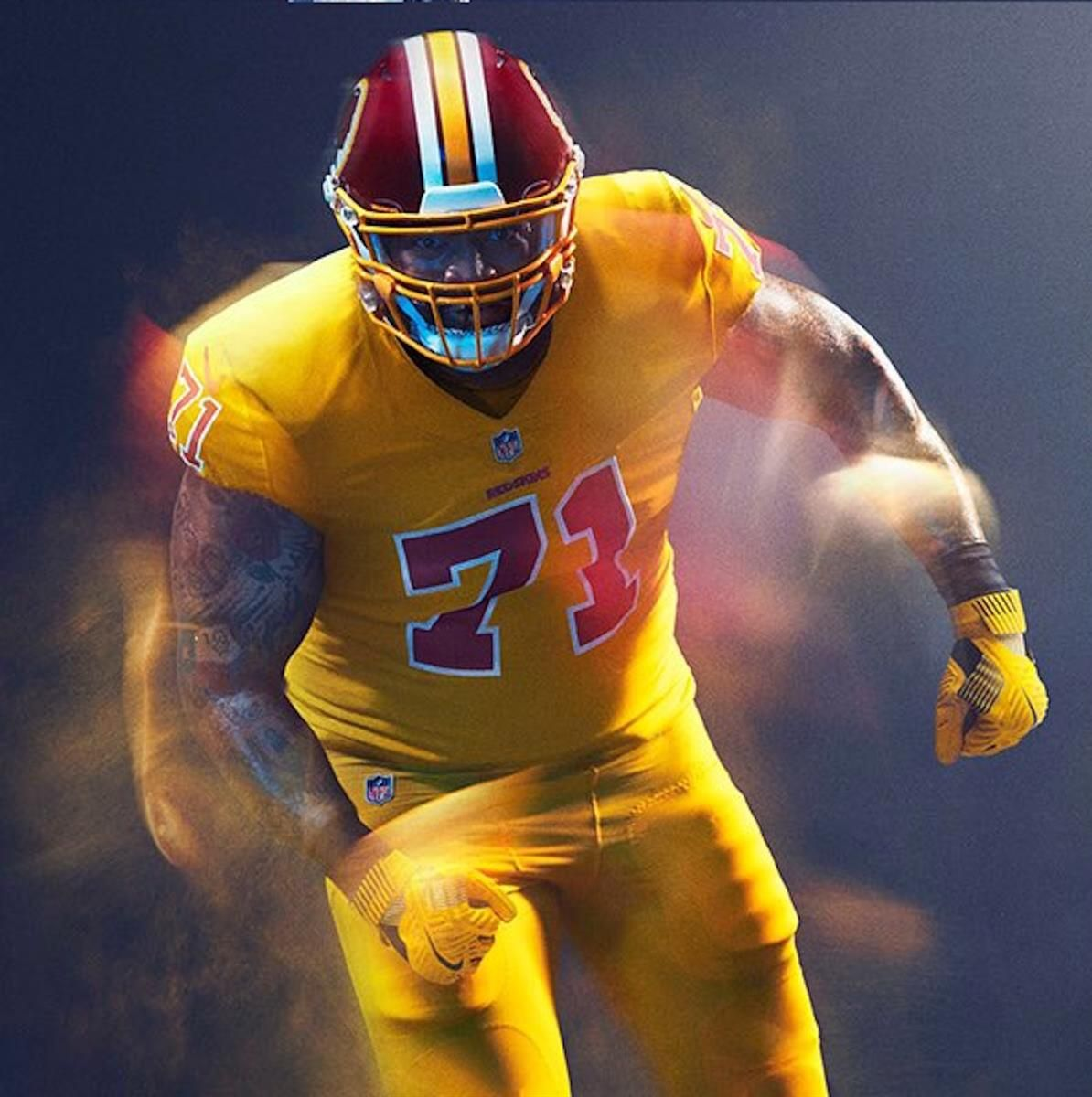 Power Ranking all 32 NFL Color Rush Uniforms  32. Washington Redskins 82155beb3