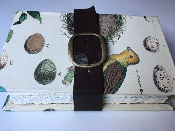 Ornithology Journal with 6 large pockets blank by SlowArtStudio