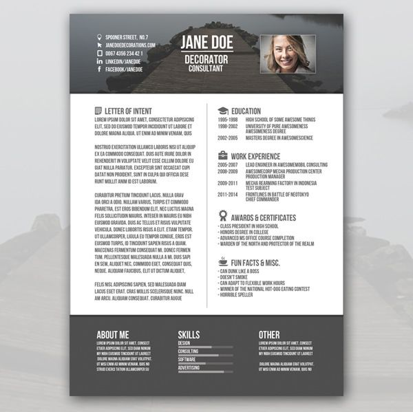 Free Creative Resume Templates Download Image Result For Creative Cv  Resume  Pinterest  Creative Cv